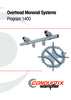 Overhead Monorail Systems Program 1400
