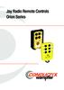 Jay Radio Remote Controls - Orion Series