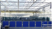 Power supply transfer cars in greenhouse