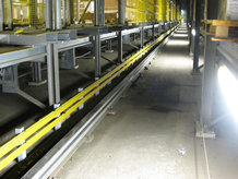 High storage system with 5 aisles